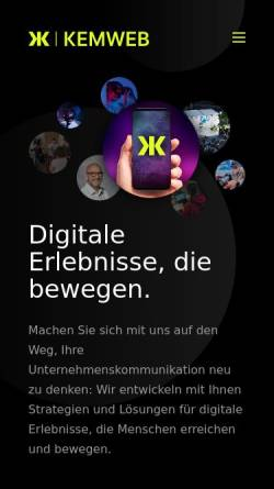 Vorschau der mobilen Webseite www.kemweb.de, Kemweb GmbH & Co. KG
