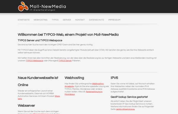 Vorschau von www.typo3-web.eu, Moll NewMedia