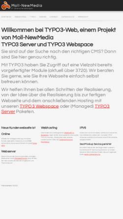 Vorschau der mobilen Webseite www.typo3-web.eu, Moll NewMedia