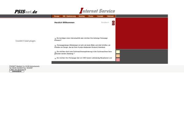 Vorschau von www.psisnet.de, Pfalz-Saar Internet Service
