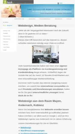 Vorschau der mobilen Webseite www.3task.de, 3Task - Frank Stemmler