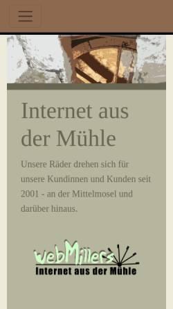 Vorschau der mobilen Webseite www.webmillers.de, webMillers Internet Design und Programmierung GbR