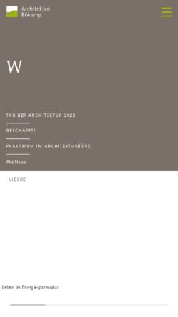 Vorschau der mobilen Webseite www.architekten-boekamp.de, Architekten Bökamp