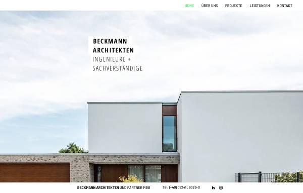 Vorschau von www.beckmann-architekten.de, Beckmann Architekten