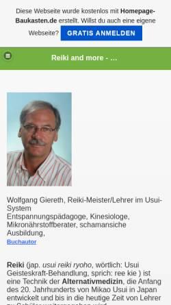 Vorschau der mobilen Webseite reikiandmore.de.tl, Wolfgang Giereth