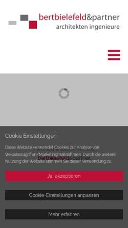 Vorschau der mobilen Webseite bertbielefeld.com, Bert Bielefeld Architekten