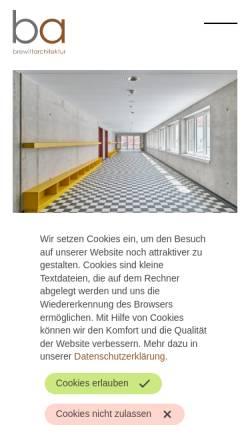 Vorschau der mobilen Webseite www.brewittarchitektur.de, Brewitt Architektur