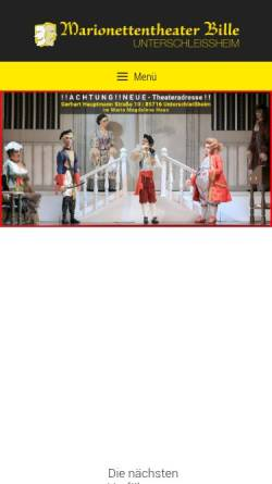 Vorschau der mobilen Webseite www.marionettentheater-ush.de, Marionettentheater Bille