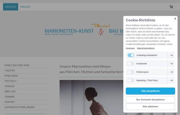 Vorschau von www.pendel-marionetten.de, Pendel Marionetten: Kunst, Bau und Spiel