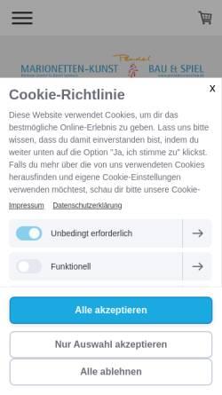 Vorschau der mobilen Webseite www.pendel-marionetten.de, Pendel Marionetten: Kunst, Bau und Spiel