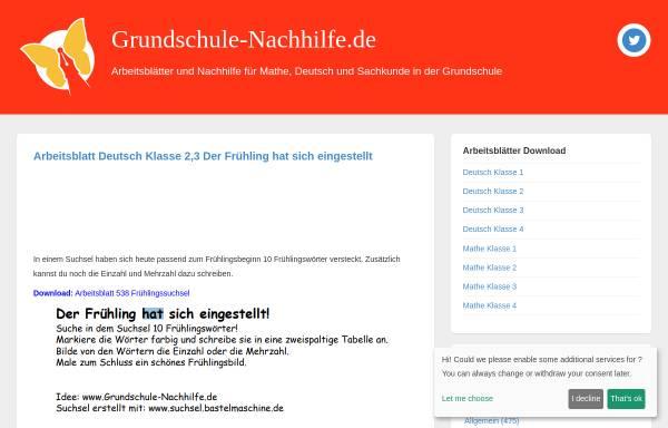 Vorschau von grundschule-nachhilfe.de, Nachhilfe in der Grundschule