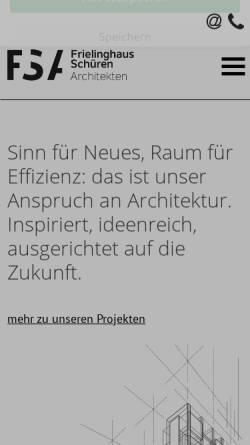 Vorschau der mobilen Webseite www.frielinghaus-schueren.de, Frielinghaus; Schüren