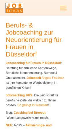 Vorschau der mobilen Webseite www.jobideas.de, J.O.B. ideas