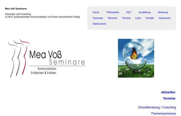 Vorschau von www.meavoss-nlp.de, Voß, Mea
