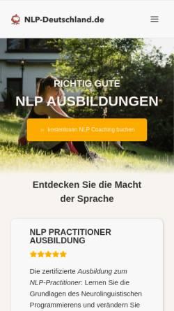 Vorschau der mobilen Webseite www.nlp-deutschland.de, NLP-Deutschland.de, Julian Wolf