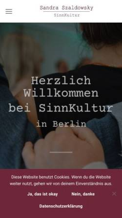 Vorschau der mobilen Webseite www.nlp-coaching-in-berlin.de, Szaldowsky, Sandra