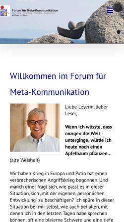 Vorschau der mobilen Webseite www.mk-forum.com, Klein, Michael H.
