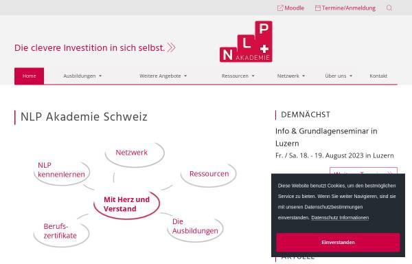 Vorschau von www.nlp.ch, NLP-Akademie Schweiz