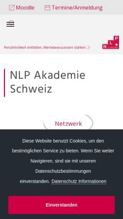 Vorschau der mobilen Webseite www.nlp.ch, NLP-Akademie Schweiz