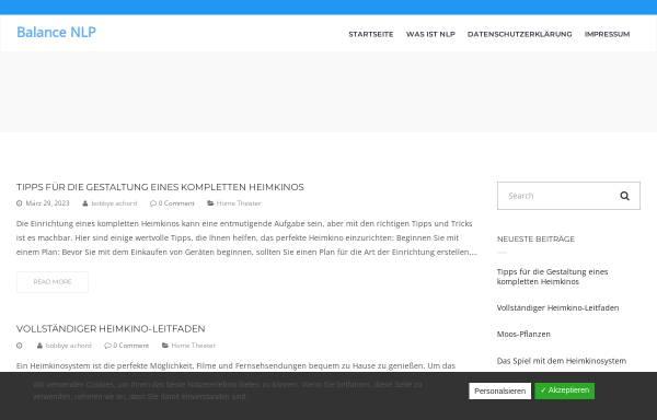 Vorschau von www.balance-nlp.de, Bendel, Dipl. Ing. oec. Gabriele