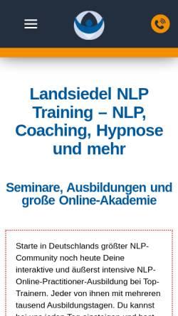 Vorschau der mobilen Webseite www.landsiedel-seminare.de, Landsiedel NLP Training