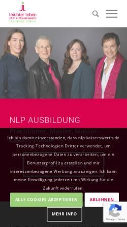 Vorschau der mobilen Webseite www.nlp-kaiserswerth.de, Ute Griessl Institut