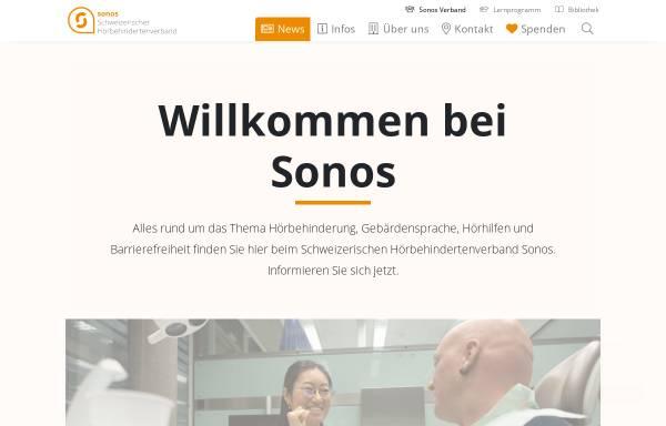 Vorschau von hoerbehindert.ch, Sonos Schweizerischer Hörbehindertenverband