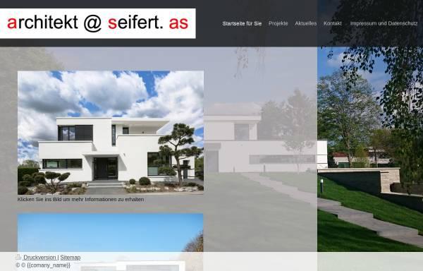 Vorschau von www.architekt-seifert.com, Seifert, Wolfgang