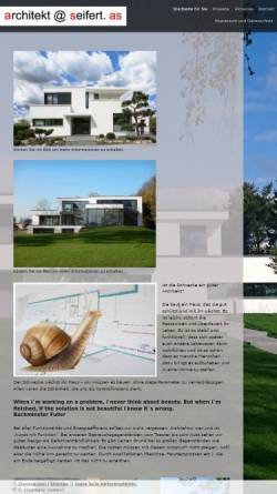 Vorschau der mobilen Webseite www.architekt-seifert.com, Seifert, Wolfgang