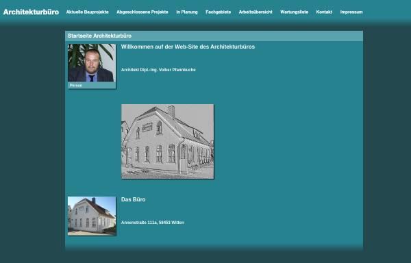 Vorschau von www.architekt-pfannkuche.de, Volker Pfannkuche, Architekturbüro