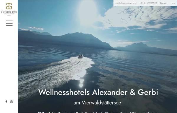 Vorschau von www.alexander-gerbi.ch, Hotels Alexander und Gerbi