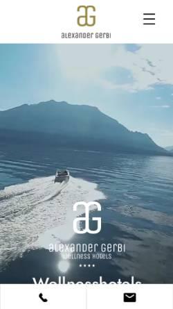 Vorschau der mobilen Webseite www.alexander-gerbi.ch, Hotels Alexander und Gerbi