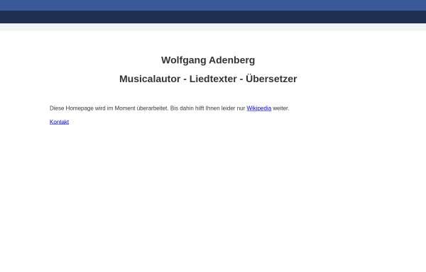 Vorschau von www.adenberg.de, Adenberg, Wolfgang