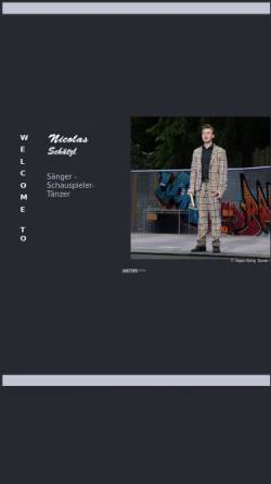 Vorschau der mobilen Webseite www.nicolas-schaetzl.de, Schätzl, Nicolas