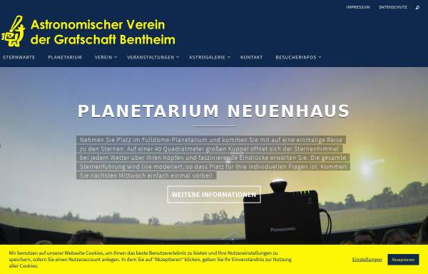 Vorschau von www.avgb.de, Astronomischer Verein der Grafschaft Bentheim e.V.
