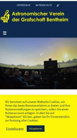 Vorschau der mobilen Webseite www.avgb.de, Astronomischer Verein der Grafschaft Bentheim e.V.
