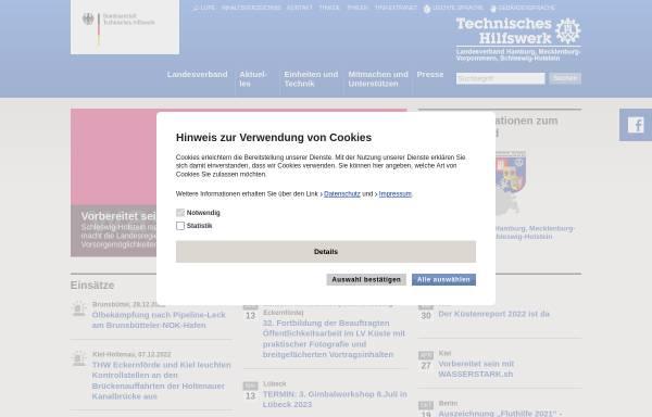 Vorschau von www.lv-hhmvsh.thw.de, THW Länderverband Hamburg, Mecklenburg-Vorpommern und Schleswig-Holstein