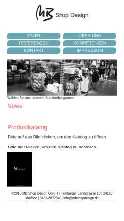 Vorschau der mobilen Webseite www.mbshopdesign.de, MB shop design GmbH