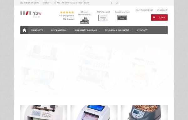 Vorschau von www.hbw-cs.de, Hbw cash solutions GmbH