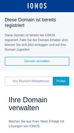 Vorschau der mobilen Webseite www.hbw-electronics.de, HBW GbR