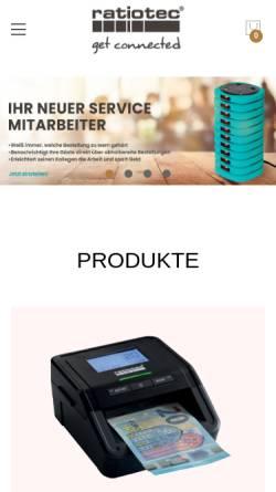 Vorschau der mobilen Webseite www.ratio-tec.com, Ratiotec Cash Services GmbH & Co.KG