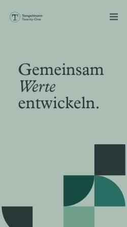 Vorschau der mobilen Webseite tengelmann.de, Tengelmann Warenhandelsgesellschaft KG