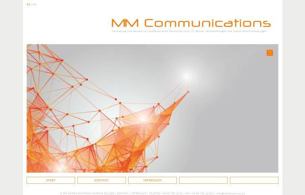 Vorschau von mmcommunications.de, MM Communications/MM Productions, Inhaber Markus Müller