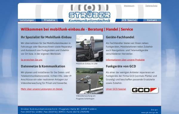 Vorschau von www.mobilfunk-einbau.de, Strüber Kommunikationstechnik, Inh. Frank Strüber