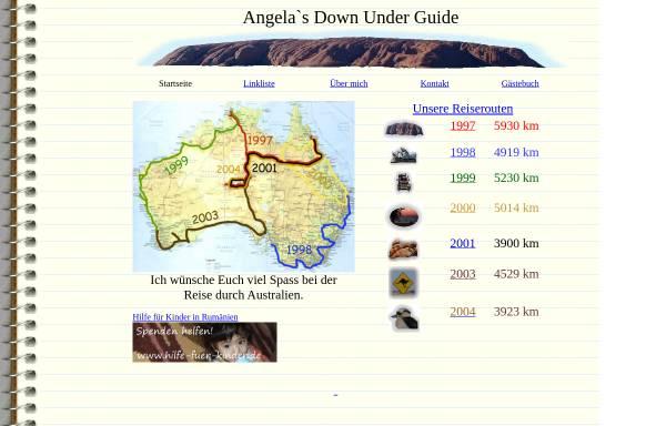 Vorschau von angela.schlagwein.de, Angela`s Down Under Guide [Angela Schlagwein]