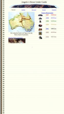 Vorschau der mobilen Webseite angela.schlagwein.de, Angela`s Down Under Guide [Angela Schlagwein]