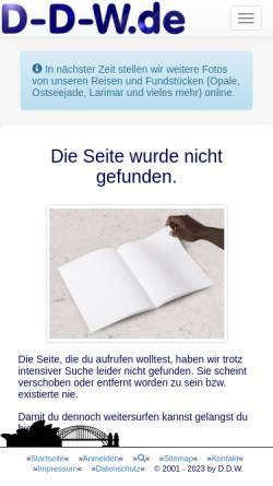 Vorschau der mobilen Webseite www.d-d-w.de, Down Under [Dieter Deuerling-Wegner]