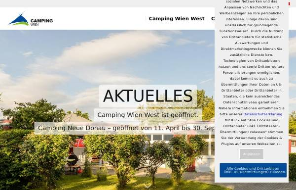 Vorschau von www.campingwien.at, Camping Wien
