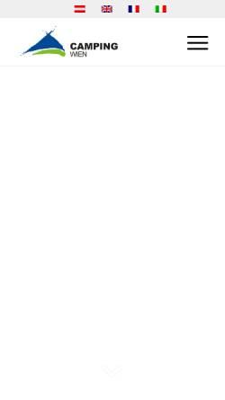 Vorschau der mobilen Webseite www.campingwien.at, Camping Wien