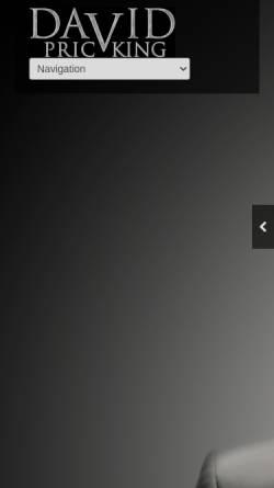 Vorschau der mobilen Webseite www.david-pricking.de, David Pricking